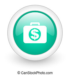 financial round glossy web icon on white background
