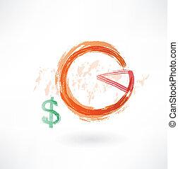 financial schedule grunge icon