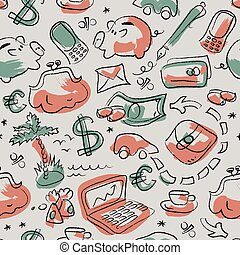 Financial Seamless Pattern