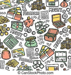 Financial Seamless Pattern