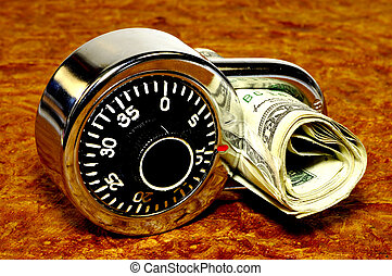 Financial Security 2 - Combination Lock With Money