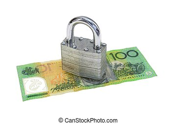 An abstract close up business image of finical security