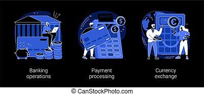Financial services abstract concept vector illustrations.