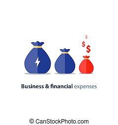 Financial shrinkage, business devaluation, budget deficit,...