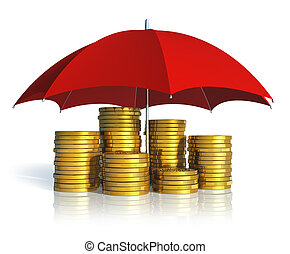 Financial stability, business success and insurance concept...