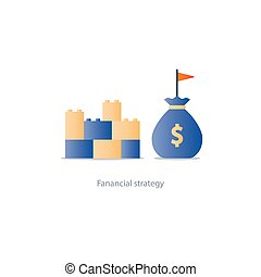Financial stability concept, budgeting and management, strong economy