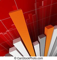 financial stat - fine 3d financial graph stat business...