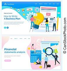 Financial Statement Analysis, Business Plan Web - Creating...