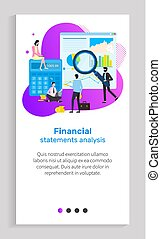 Financial Statement Analysis, Person with Tool - Financial...