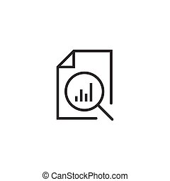 Financial statement icon in flat style. Result vector...