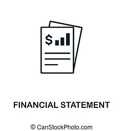 Financial Statement vector icon symbol. Creative sign from investment icons collection. Filled flat Financial Statement icon for computer and mobile