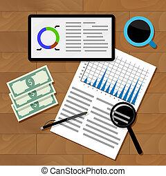 Financial statistics concept