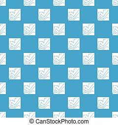 Financial statistics pattern seamless blue