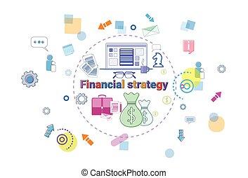 Financial Strategy Concept Business Plan Development Finance Project Banner