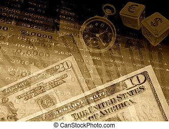 financial success background - fine abstract image of ...