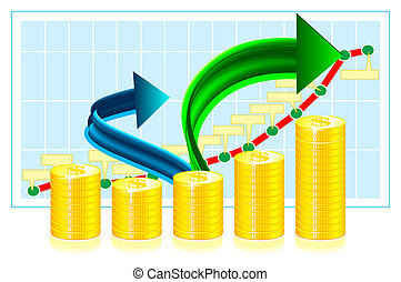 Financial success concept illustration