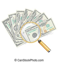 Financial Success Concept Vector. Money Banknotes Stack. Isolated On White