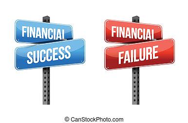 financial success, financial failure signs