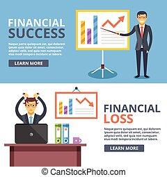 Financial success, financial loss