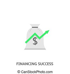 Financial success icon Vector