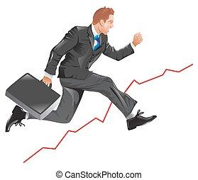 Financial success, illustration