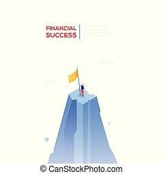 Financial success - modern isometric vector web banner
