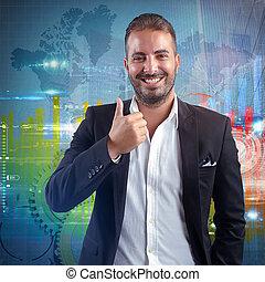 Financial success of a businessman