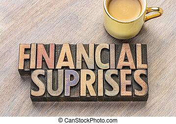 financial surprises in wood type