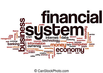 Financial system word cloud
