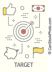 Financial target concept
