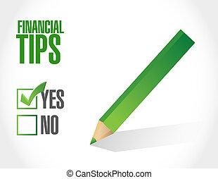 financial tips approval sign concept illustration design...