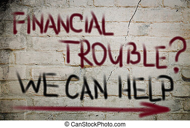 Financial Trouble Concept
