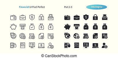 Financial UI Pixel Perfect Well-crafted Vector Thin Line And Solid Icons 30 2x Grid for Web Graphics and Apps. Simple Minimal Pictogram Part 2-3