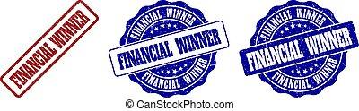 FINANCIAL WINNER Grunge Stamp Seals