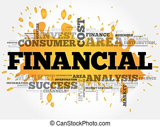 FINANCIAL word cloud collage