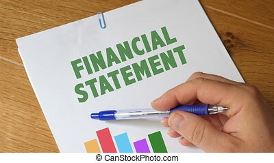 Financialn Statement Report - Financial Statement On Wooden...
