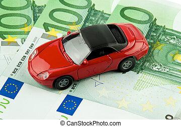 financiamiento, costes, coche, l, bills., €