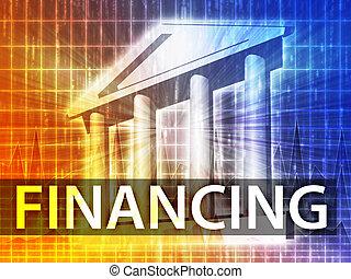 financiamiento, ilustración