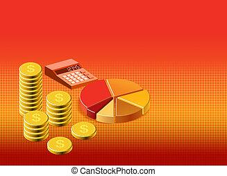 financieel, achtergrond, illustratie, liggen