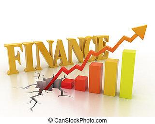 financieel concept, groei, zakelijk
