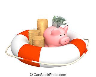 financieel, crisis, helpen