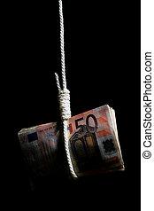 financieel, crisis.