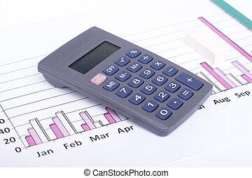 financieel, data, analyzing