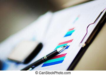 financieel, diagrammen, en, grafieken