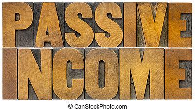 financieel, inkomen, concept, passief, -