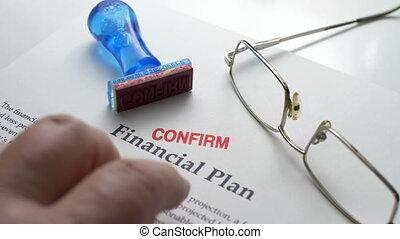 financieel plan, bevestigen