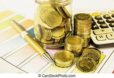 financier, analysis., coin., indices, comptabilité, marché pile, stockage