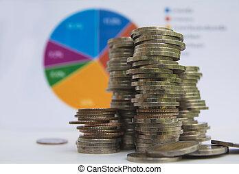 financier, analysis., coin., indices, comptabilité, stockage, marché pile, économie