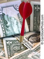financier, cible, (in, color)