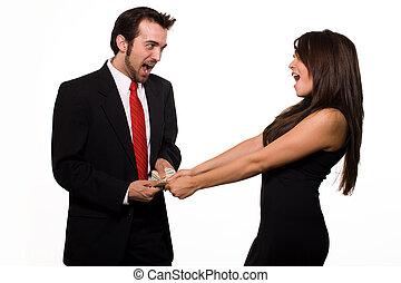 financier, conflit